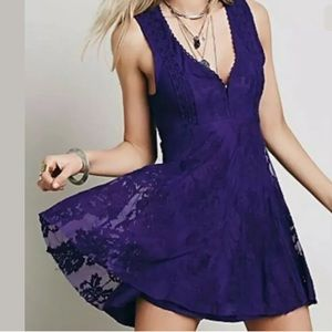 Free People Reign Over Me Lace Embroidered Dress 2
